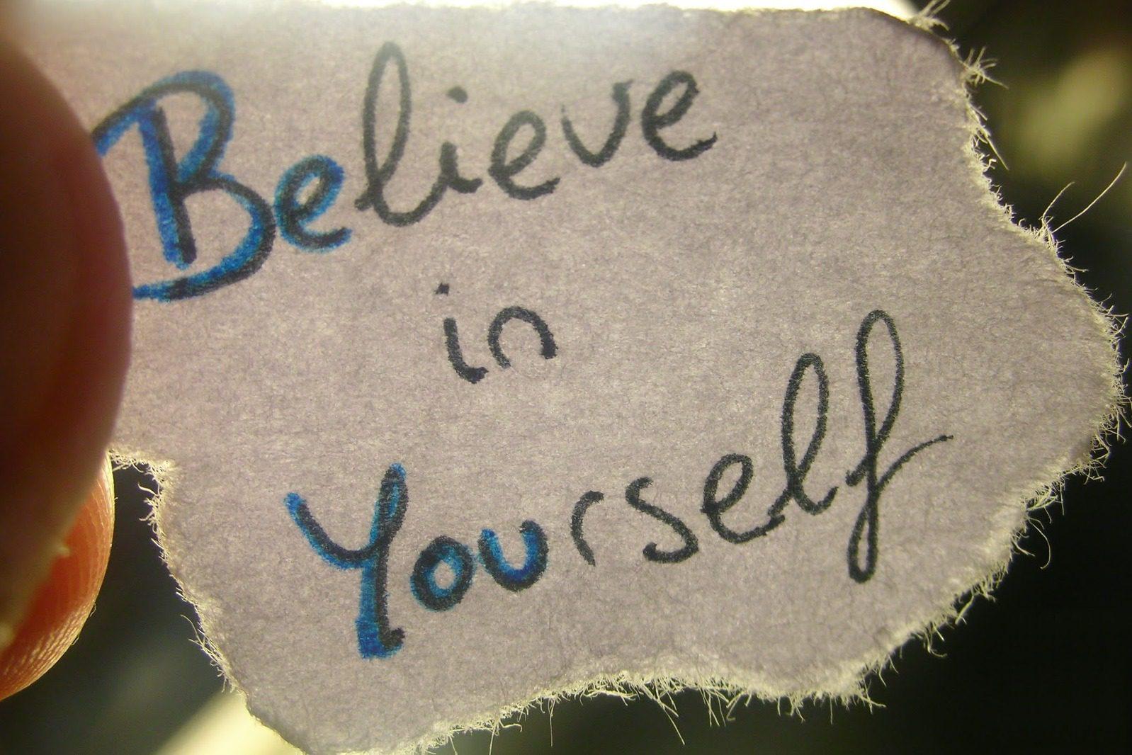 Believe in self essay