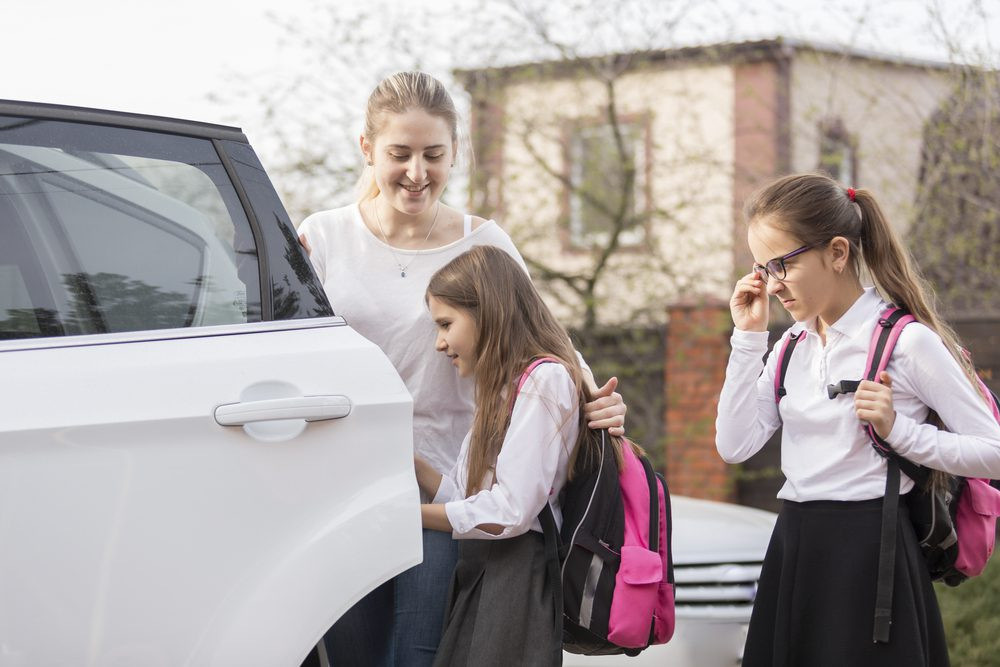 What should I tell my child whilst driving to an exam?